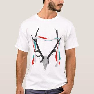 Deer Head With Patriotic Ribbons T-Shirt