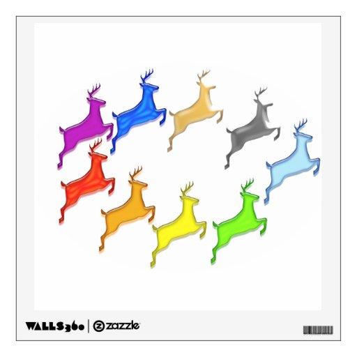 Deer Herd in flying colors Wall Skin
