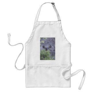 Deer hiding in bushes adult apron
