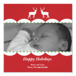 Deer Holiday Photo Card Personalized Invites