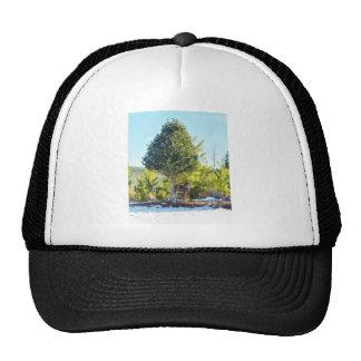 Deer Holly berry tree in snow Trucker Hat