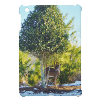 Deer & Holly berry tree in snow Cover For The iPad Mini