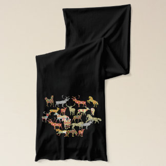 deer horse ikat party scarf