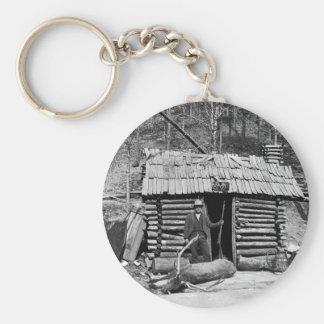 Deer Hunter, 1901 Basic Round Button Keychain