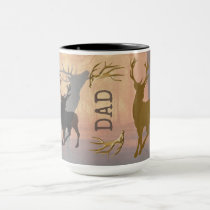 Deer Hunter Antlers Name Template Mug