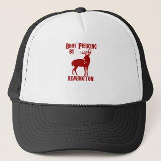 Deer Hunter BODY PIERCING BY REMINGTON BLACK Tee Trucker Hat