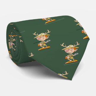 Deer Hunter Cartoon Necktie