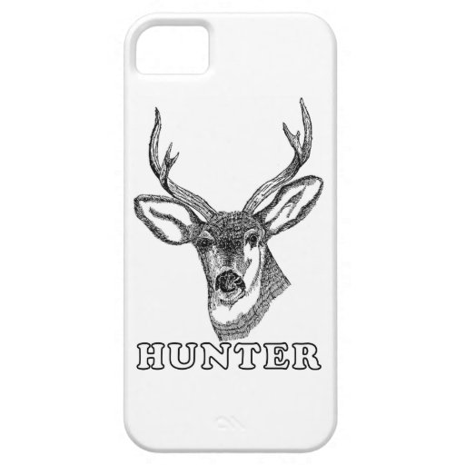 Deer Hunter Drawing in Black and White iPhone 5 Covers