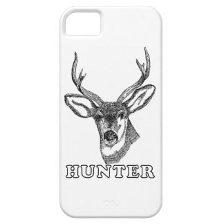 Deer Hunter Drawing in Black and White iPhone SE/5/5s Case