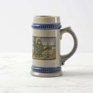 Deer Hunter Mug, with Rifle Beer Stein