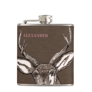 Deer Hunter-Personalized Buck Hip Flask
