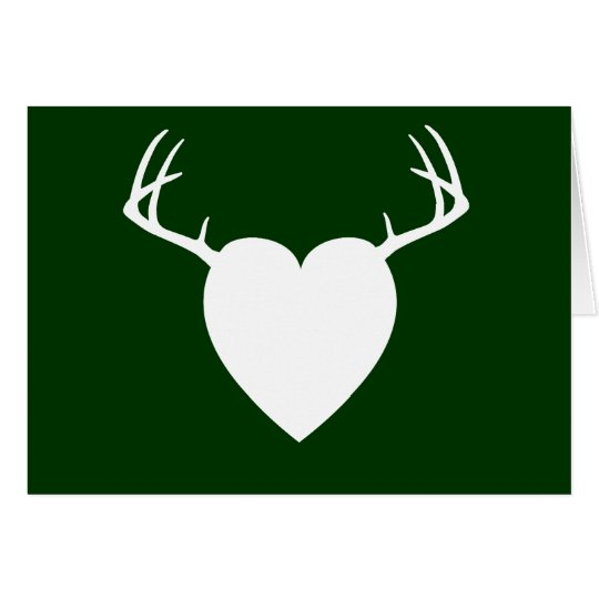 Deer Hunting Antlers heart Card