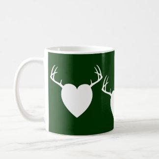 Deer Hunting Antlers heart Coffee Mug
