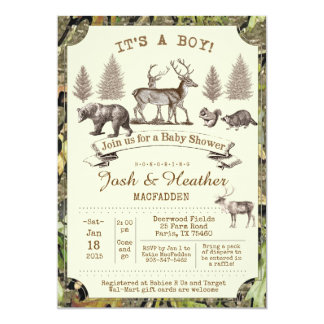 Deer Hunting Baby Shower Invitation