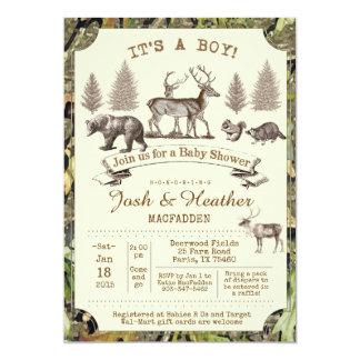 Deer Hunting Baby Shower Invitation