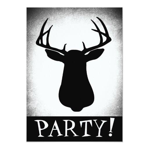 Deer Hunting Birthday Invitation