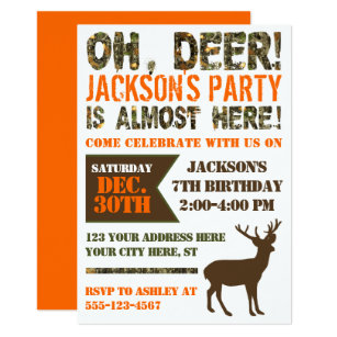 Deer hunting birthday invitations the best deer 2018 hunting party invitations birthday invitation filmwisefo