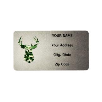 Deer Hunting Camo Buck Address Label