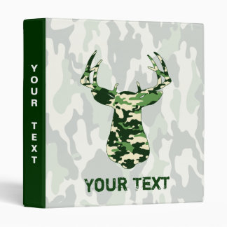 Deer Hunting Camo Buck Binder