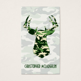 Deer Hunting Camo Buck Business Card