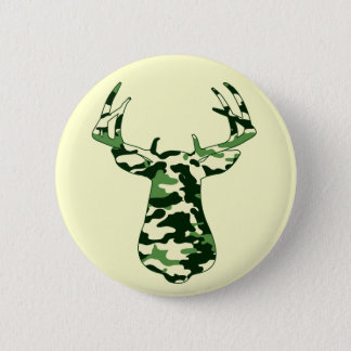 Deer Hunting Camo Buck Button