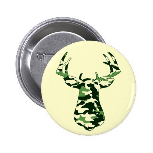 Deer Hunting Camo Buck Buttons