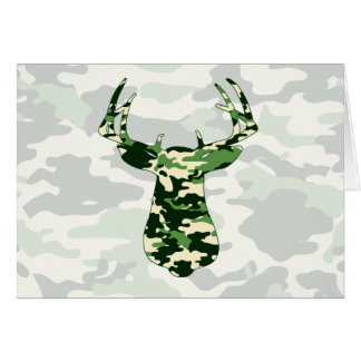 Deer Hunting Camo Buck Card