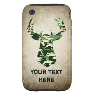 Deer Hunting Camo Buck Tough iPhone 3 Cases