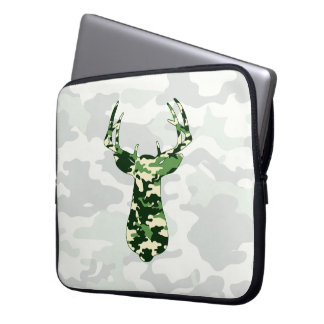 Deer Hunting Camo Buck Computer Sleeve