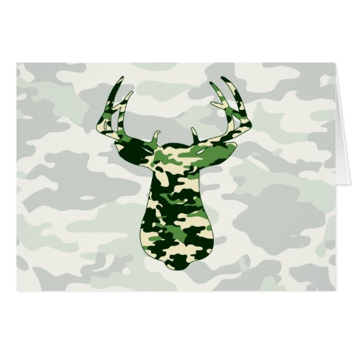 Deer Hunting Camo Buck Greeting Card