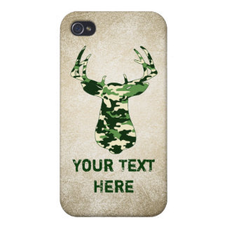 Deer Hunting Camo Buck Cases For iPhone 4