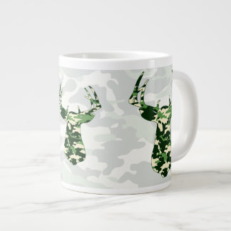 Deer Hunting Camo Buck Large Coffee Mug