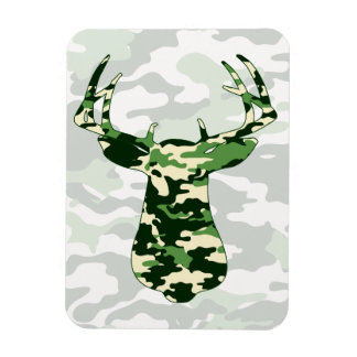 Deer Hunting Camo Buck Magnet