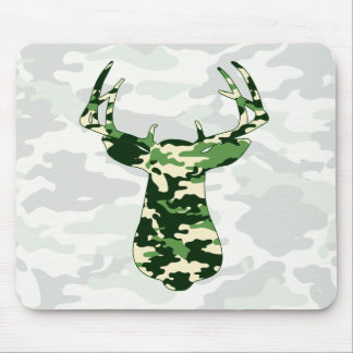 Deer Hunting Camo Buck Mouse Pad