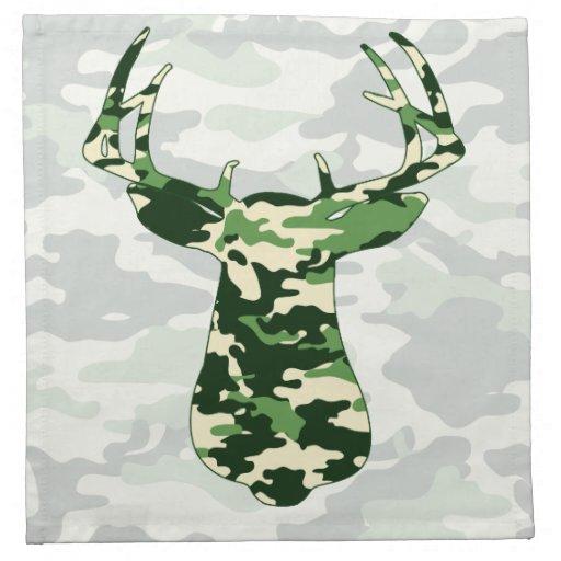 Deer Hunting Camo Buck Napkin