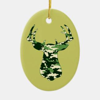 Deer Hunting Camo Buck Christmas Tree Ornaments