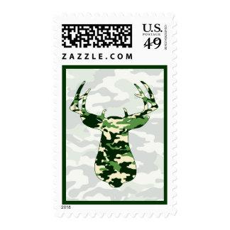 Deer Hunting Camo Buck Postage Stamp