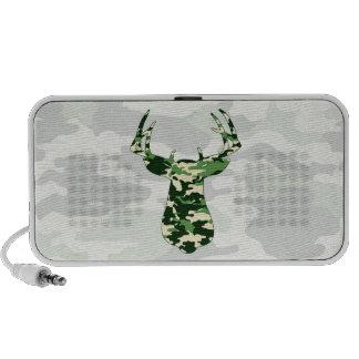 Deer Hunting Camo Buck iPod Speakers