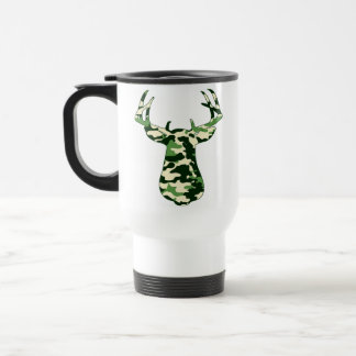 Deer Hunting Camo Buck Travel Mug