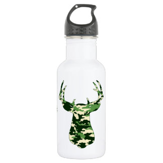 Deer Hunting Camo Buck Water Bottle