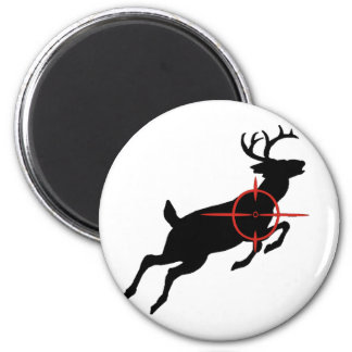 Deer Hunting- Deer with crosshairs on it 2 Inch Round Magnet