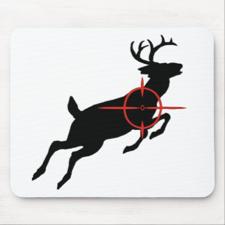 Deer Hunting- Deer with crosshairs on it Mouse Pad