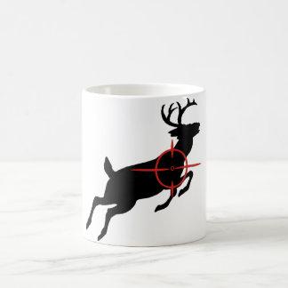Deer Hunting- Deer with crosshairs on it Mugs