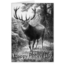 Deer Hunting Fathers Day Cards