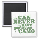 Deer Hunting Humor Camouflage 2 Inch Square Magnet