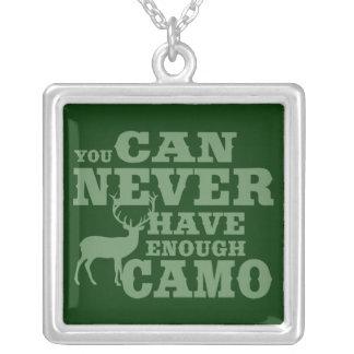 Deer Hunting Humor Camouflage Pendant