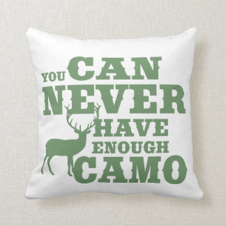 Deer Hunting Humor Camouflage Throw Pillow