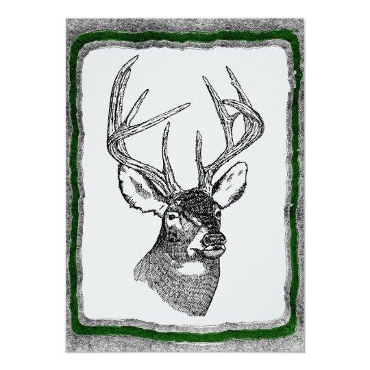 Deer Hunting Invitation Template Zazzle Com