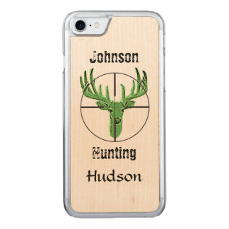 Deer Hunting Logo Carved iPhone 7 Case