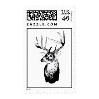 Deer Hunting postage stamp
